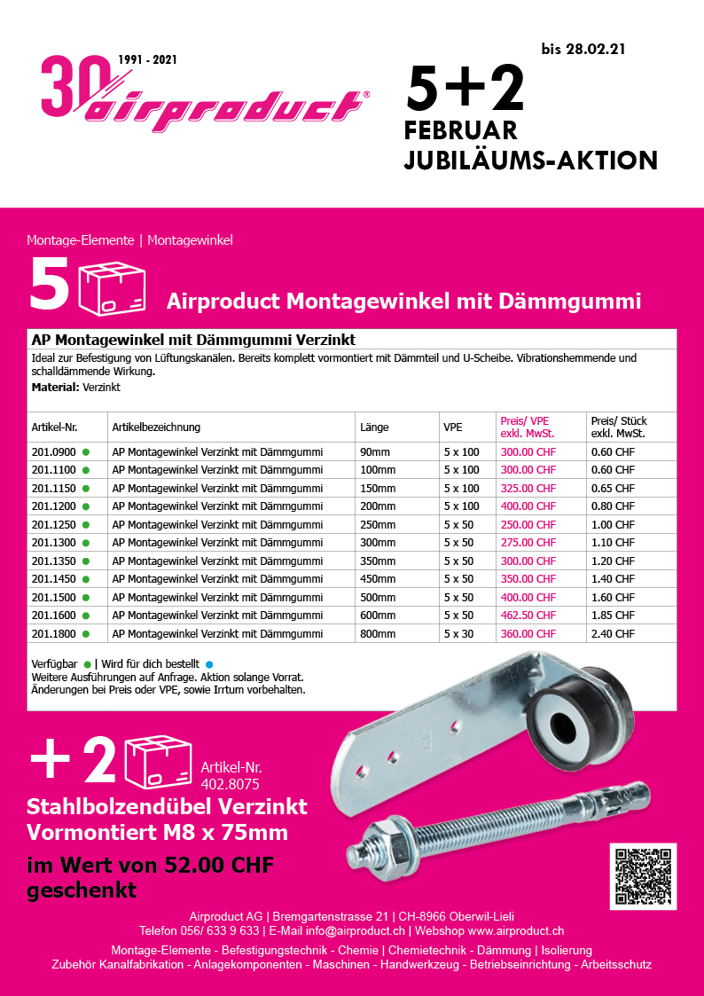 30 Jahre Airproduct Aktion - Februar